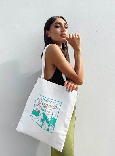 Recycled Cotton Blend Tote Arizona Cream