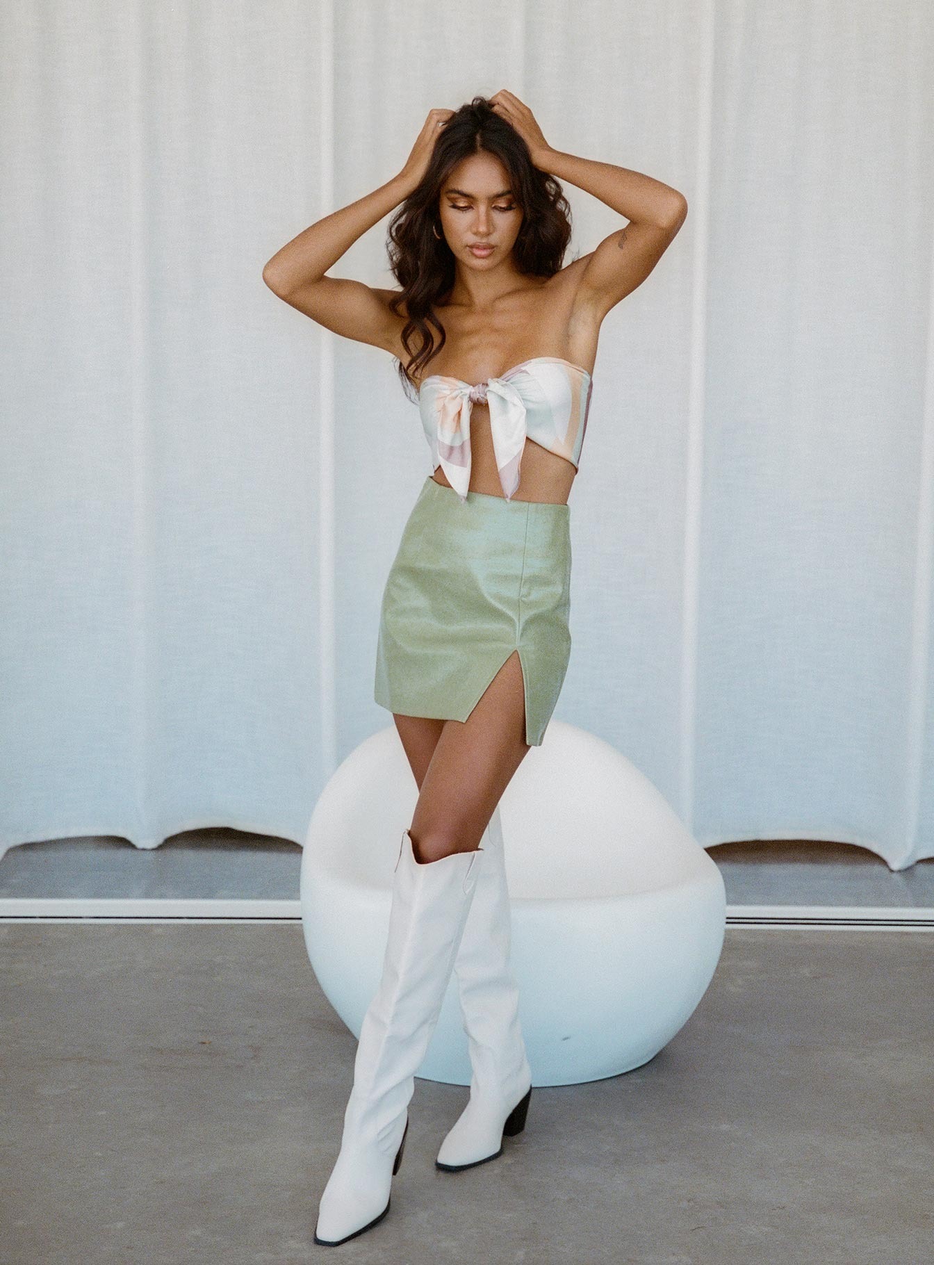 Good Vibes Mini Skirt Green
