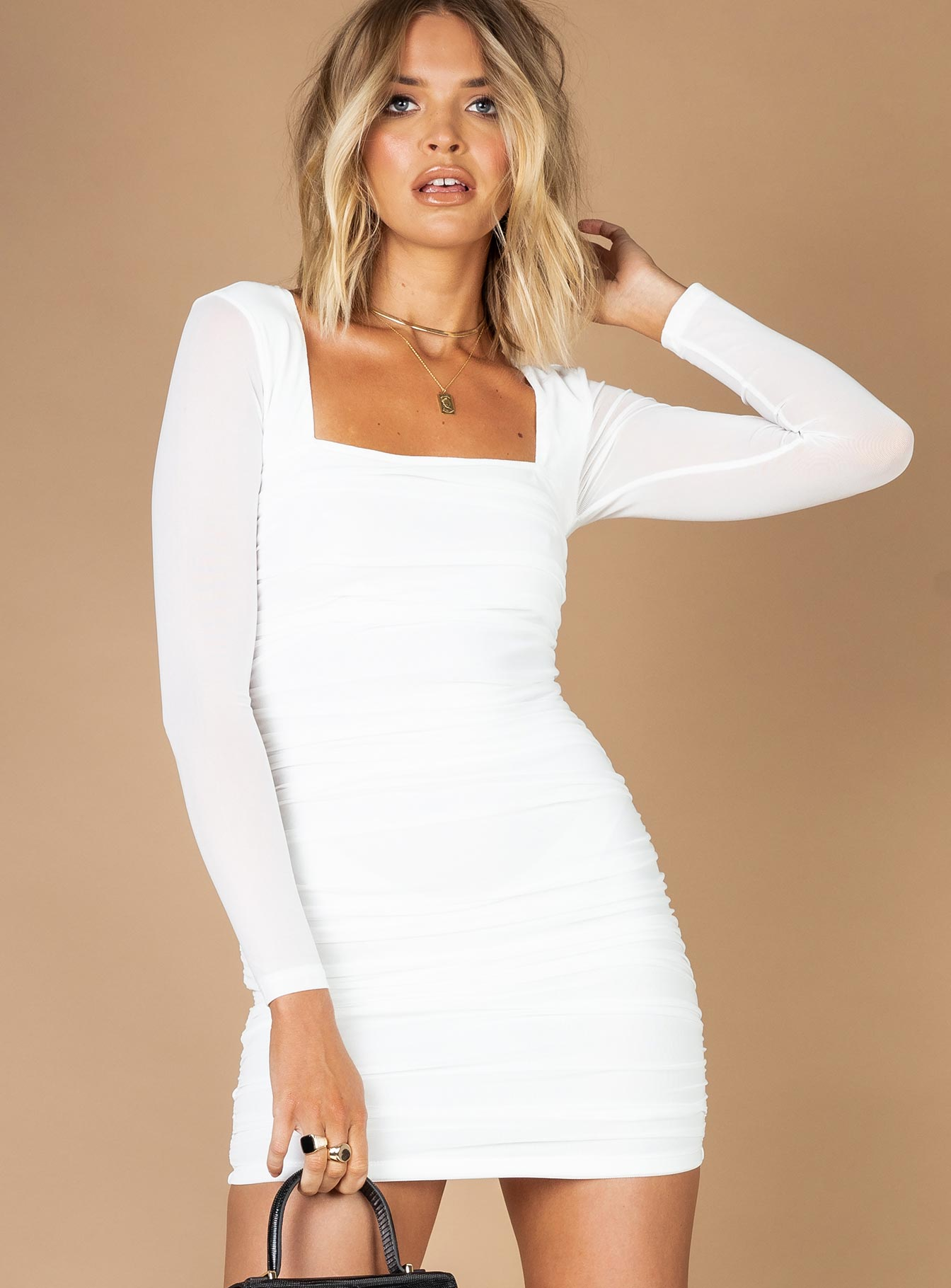 Juna Mini Dress White