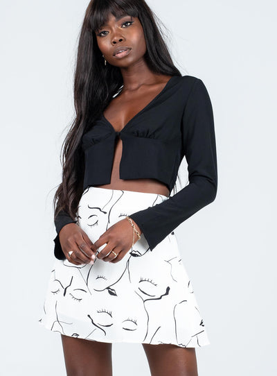 Face to Face Mini Skirt White