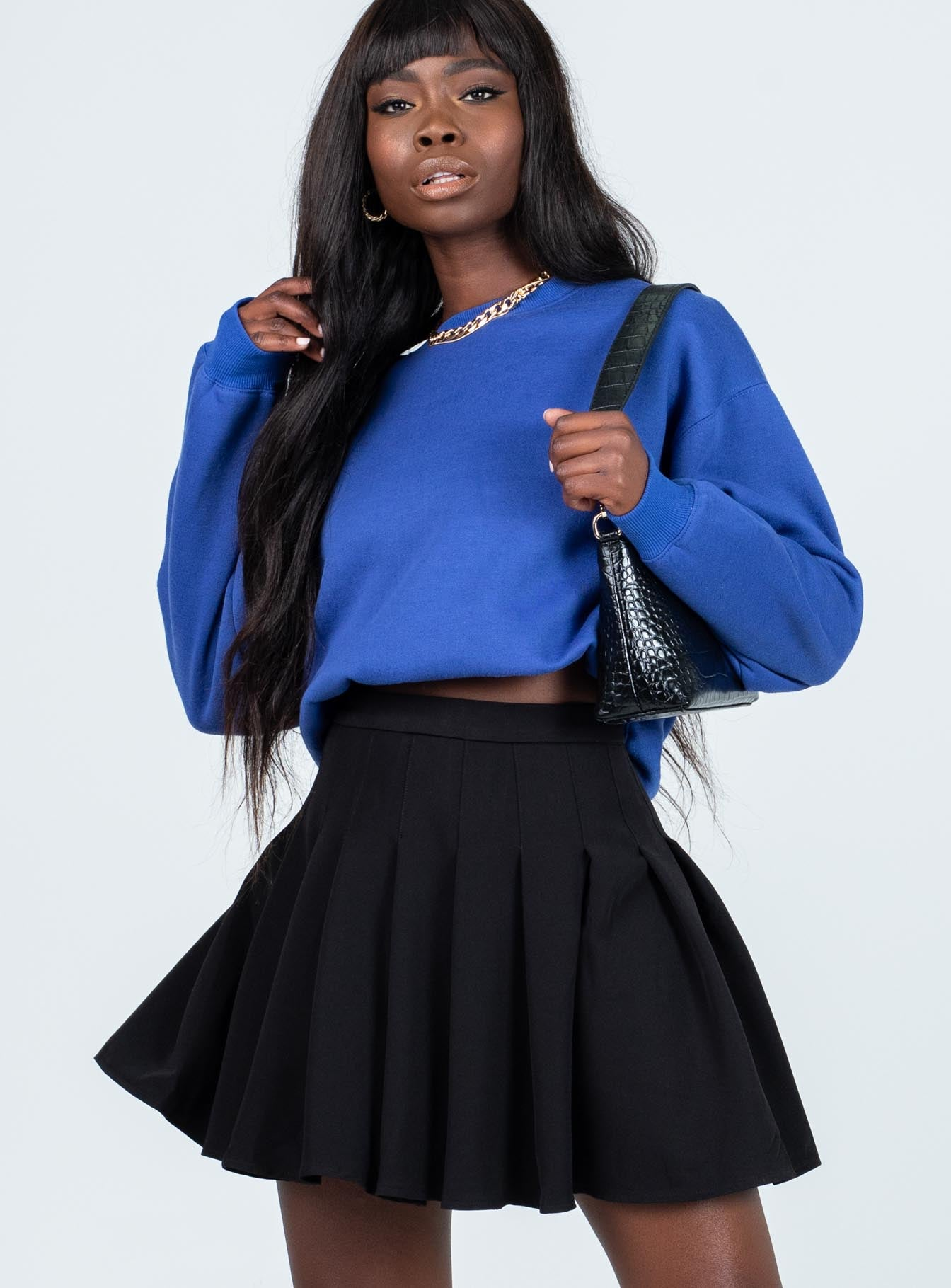 Lucid Mini Skirt Black