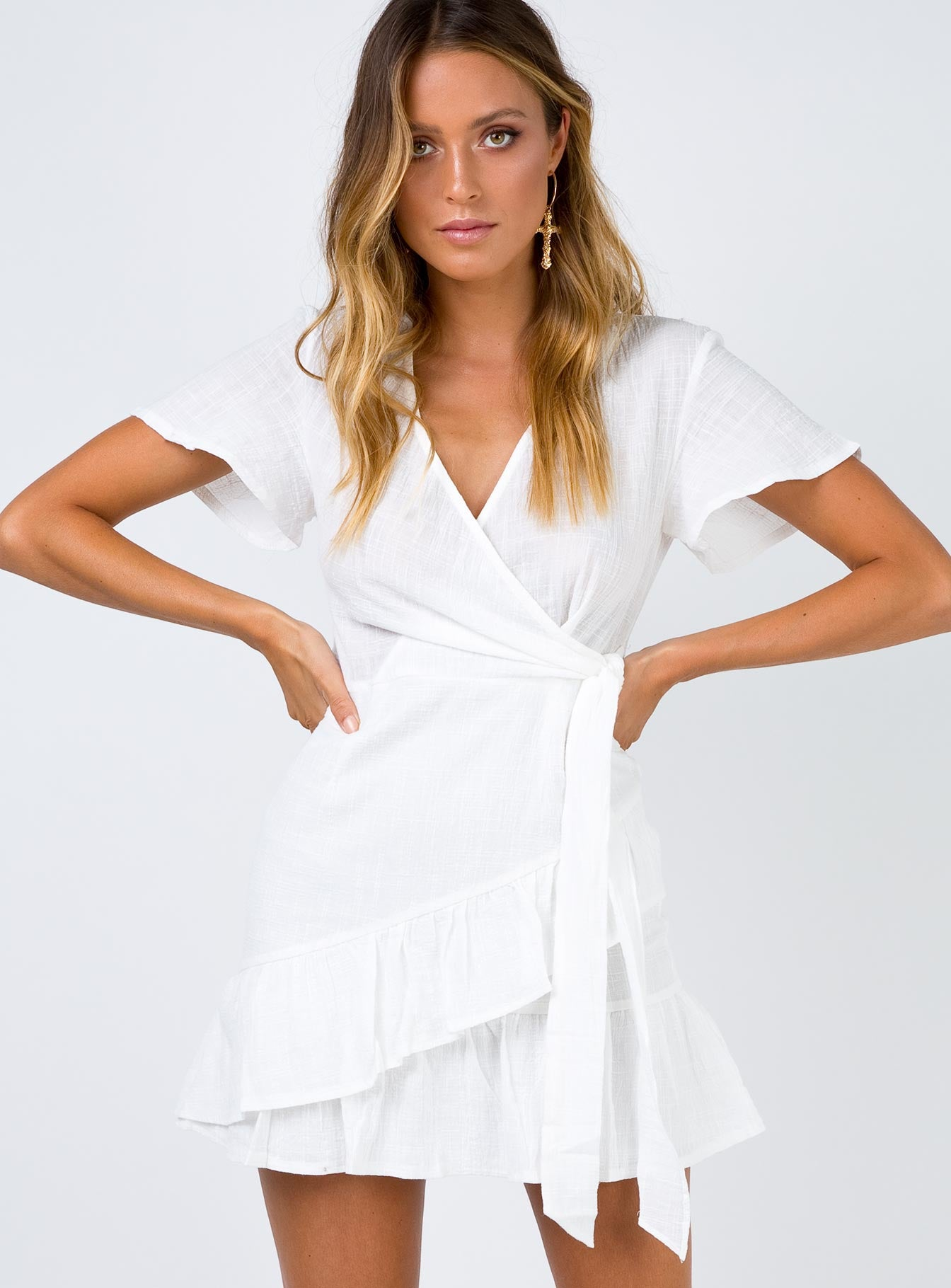 Company For One Wrap Dress White