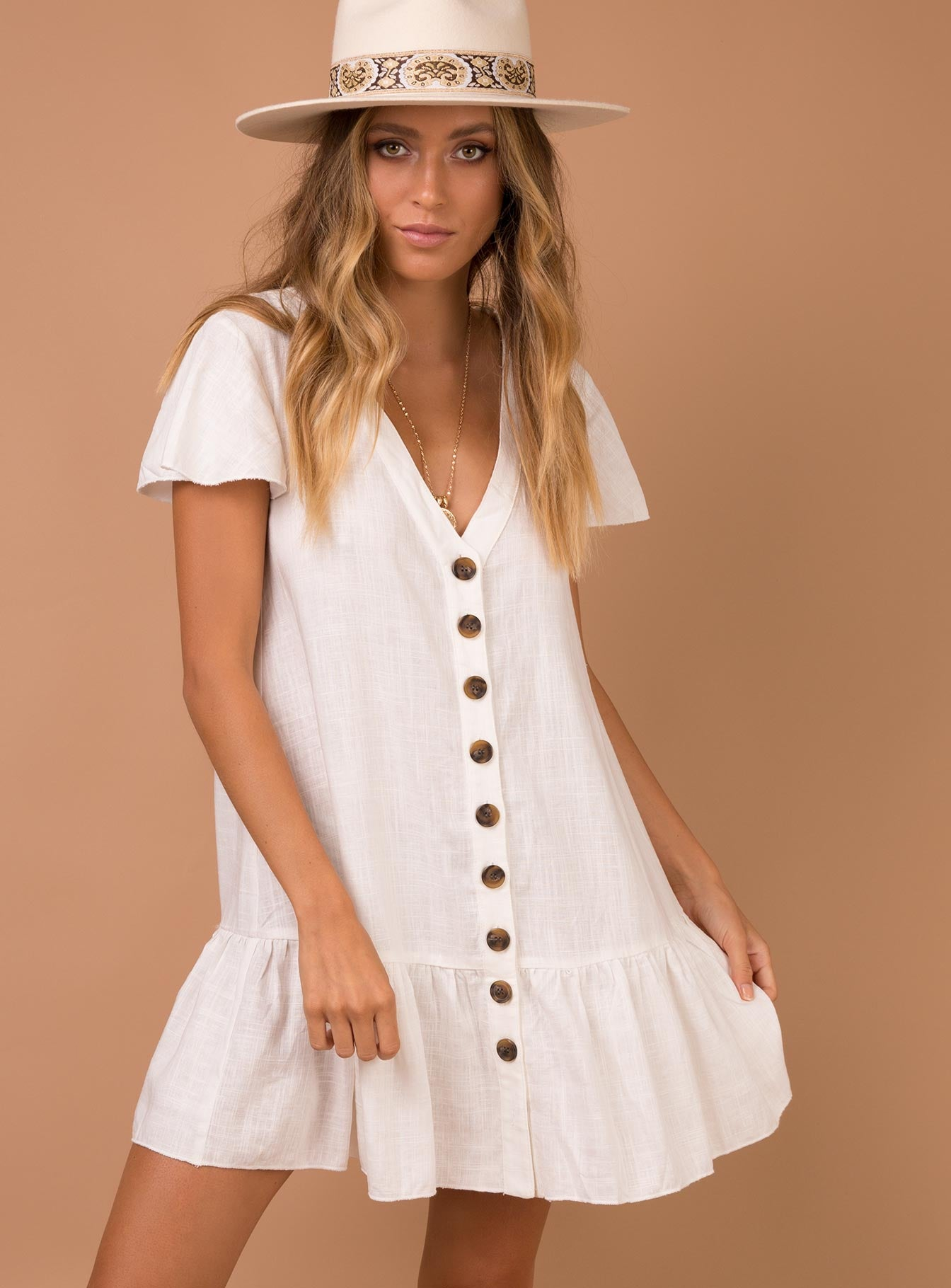 Te Amo Mini Dress Off White