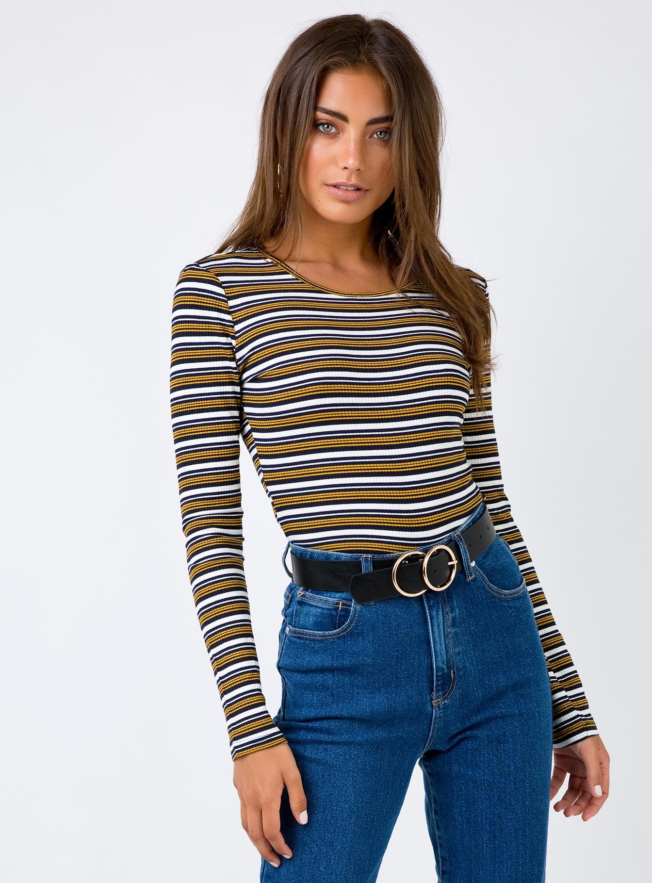 Florentine Top Black/Yellow