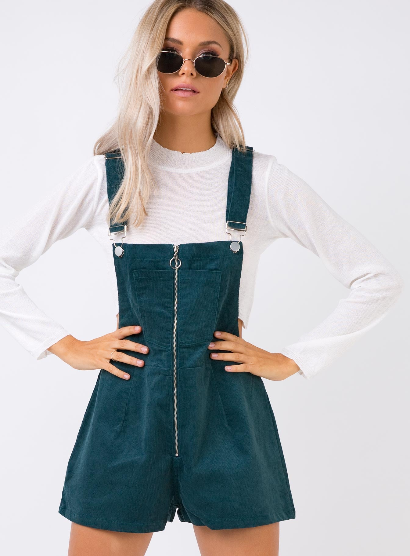 Outlaw Cord Overalls Dark Green