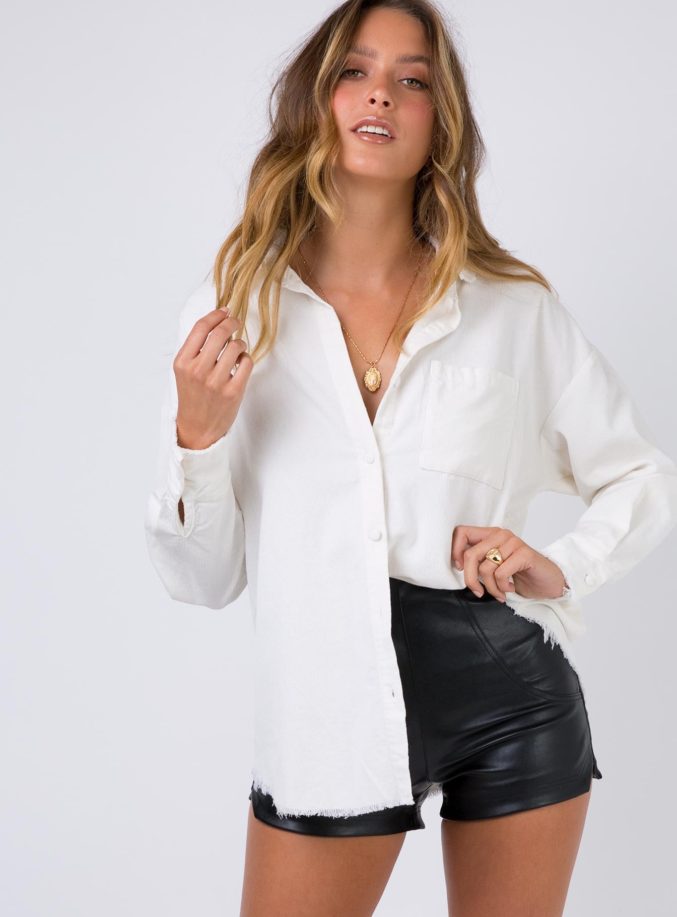 Macie Jones Top White
