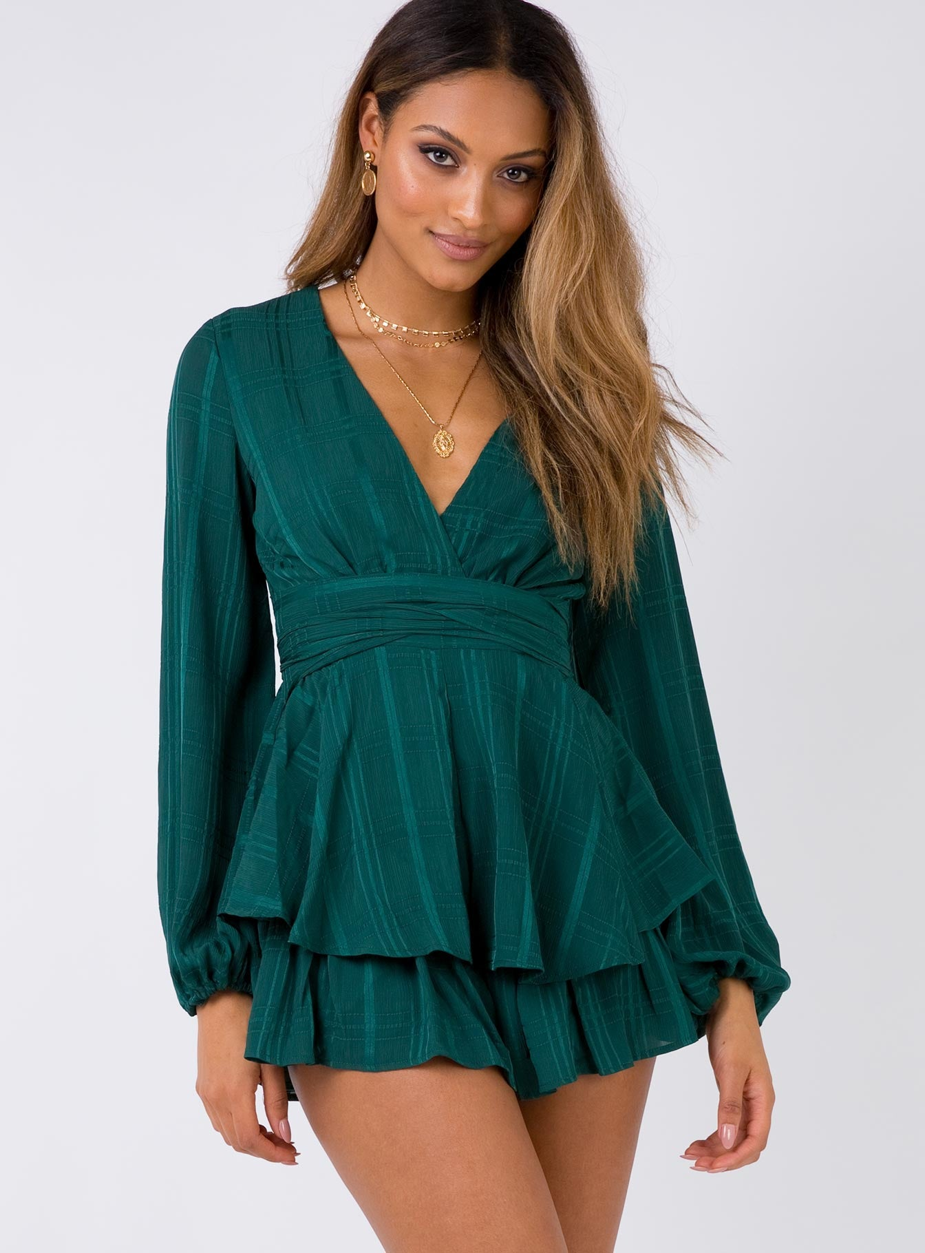 String Of Stars Playsuit Forest Green
