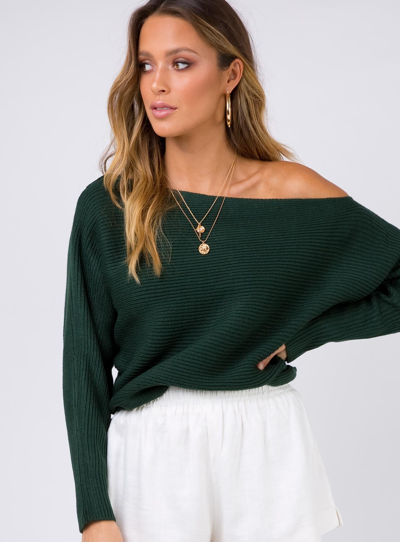 Arizona Light Knit Top Green