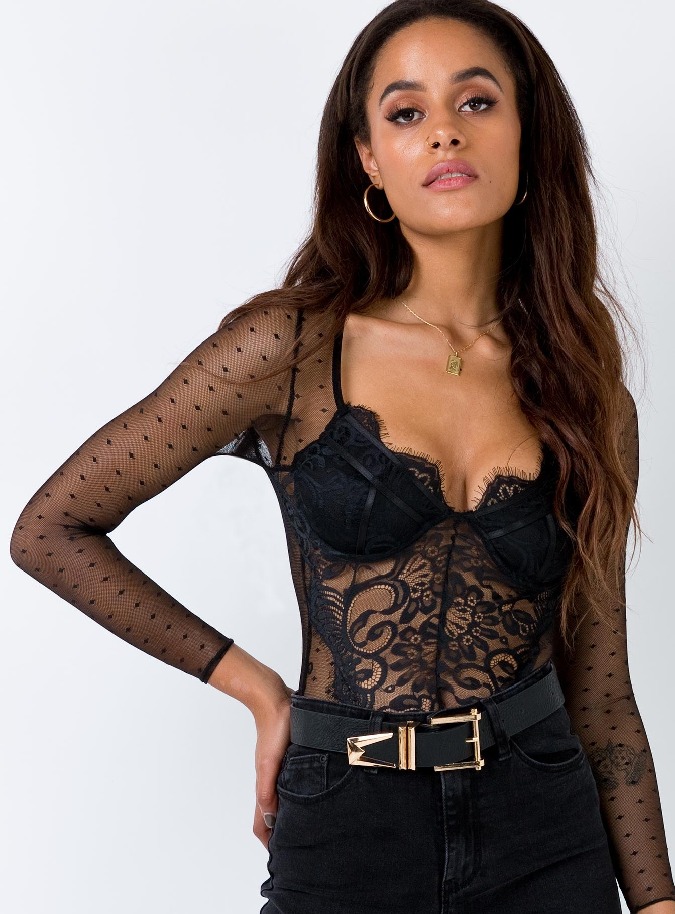 Cherry Bomb Bodysuit Black