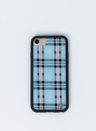 Wildflower Blue Plaid iPhone 6/7/8 Case