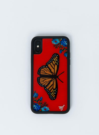 Wildflower Butterfly iPhone X Case