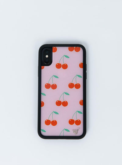Wildflower Pink Cherries iPhone X Case