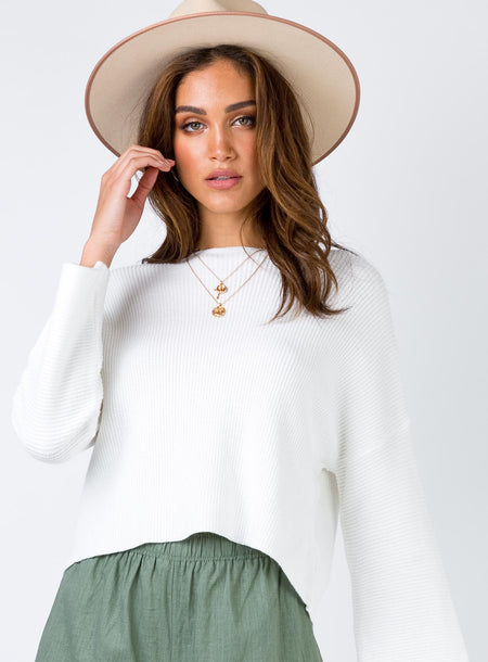Laneway Long Sleeve Top Cream by Princess Polly, available on princesspolly.com for $44 Kendall Jenner Top SIMILAR PRODUCT
