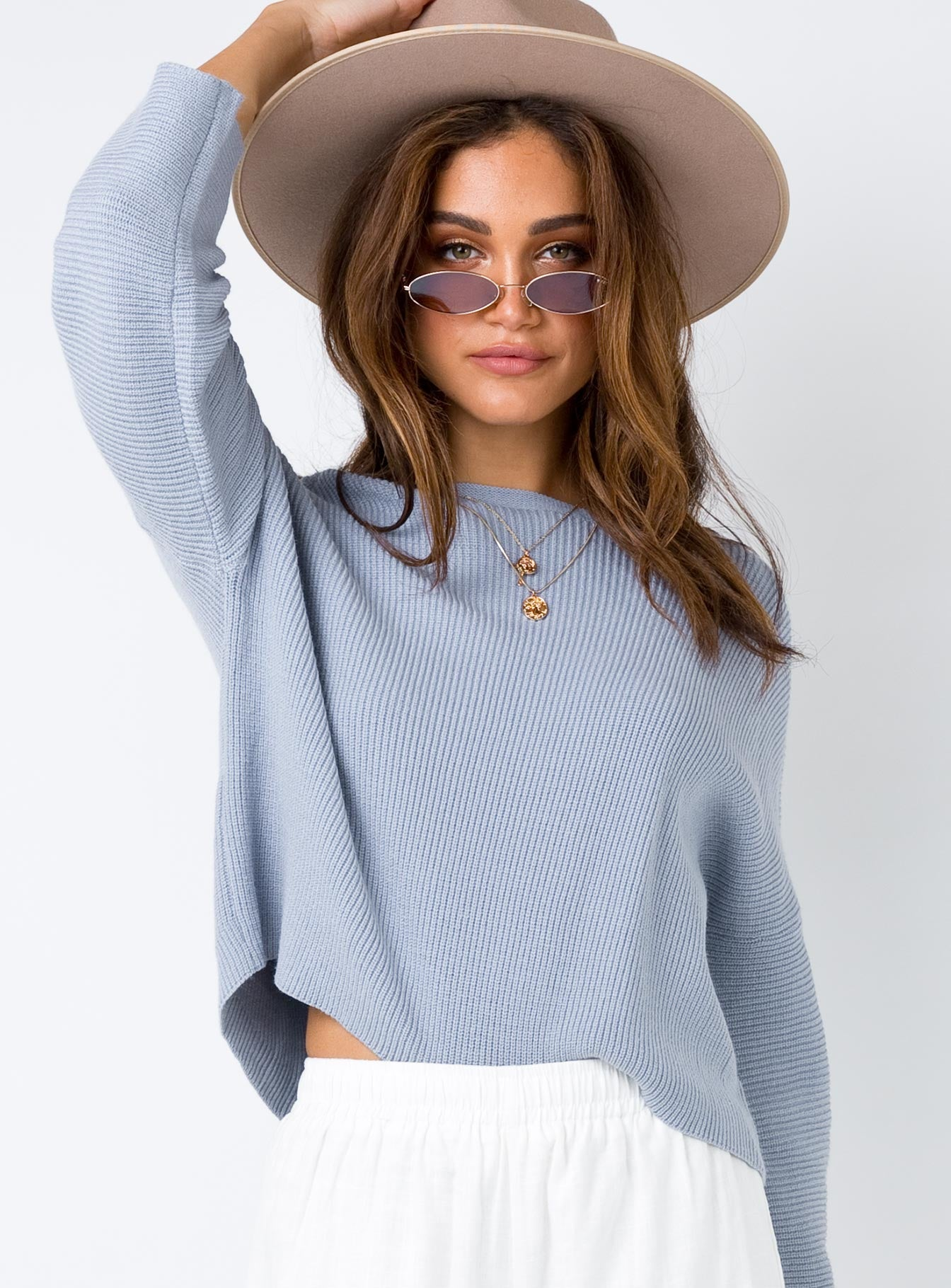 Laneway Long Sleeve Top Grey