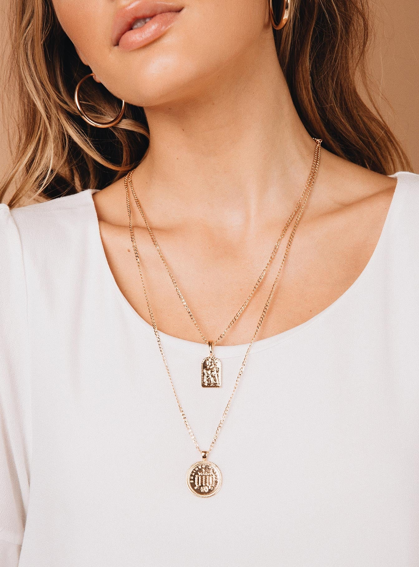 Hera Layered Necklace Gold