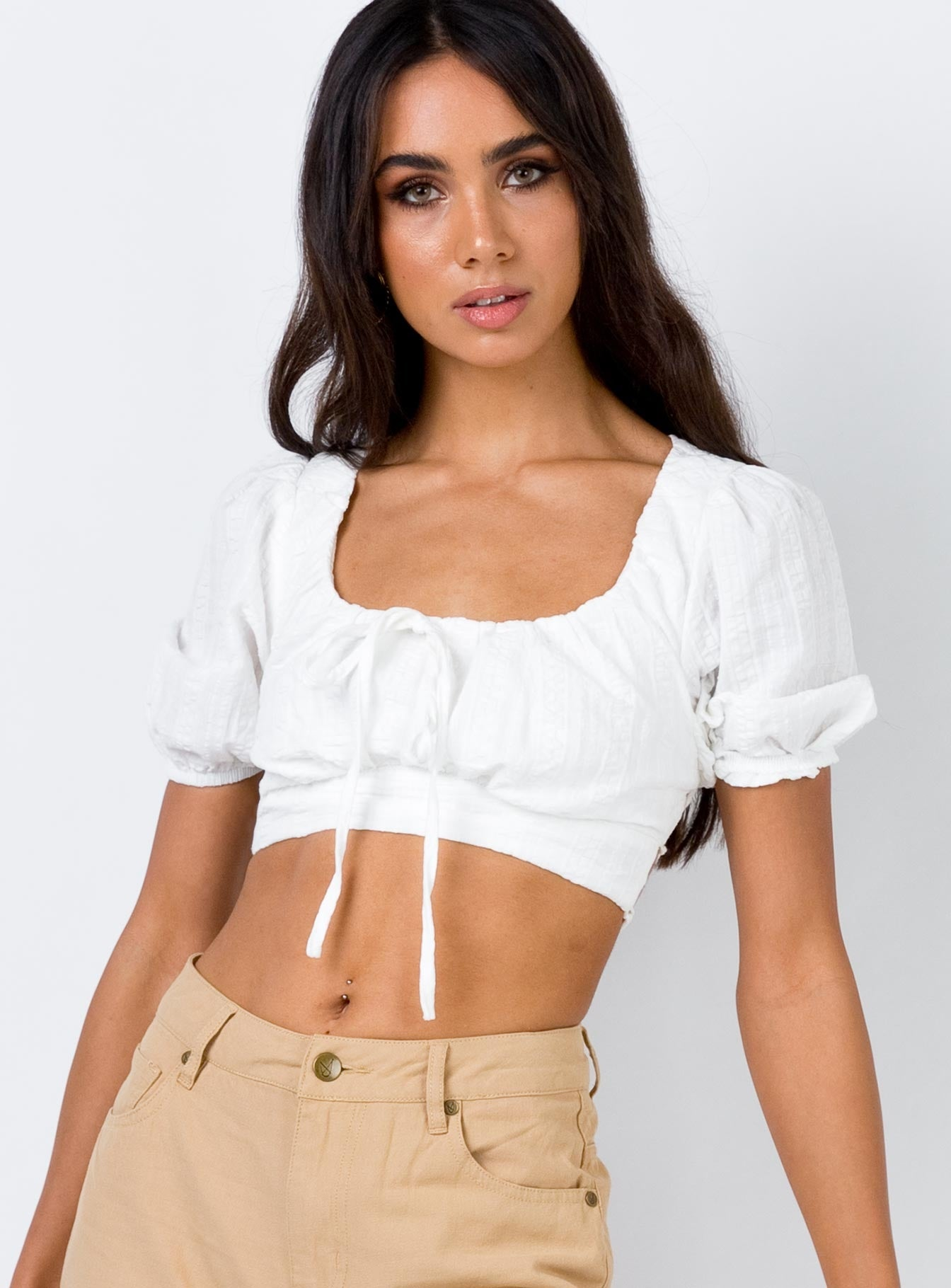Ocean Crop Top White