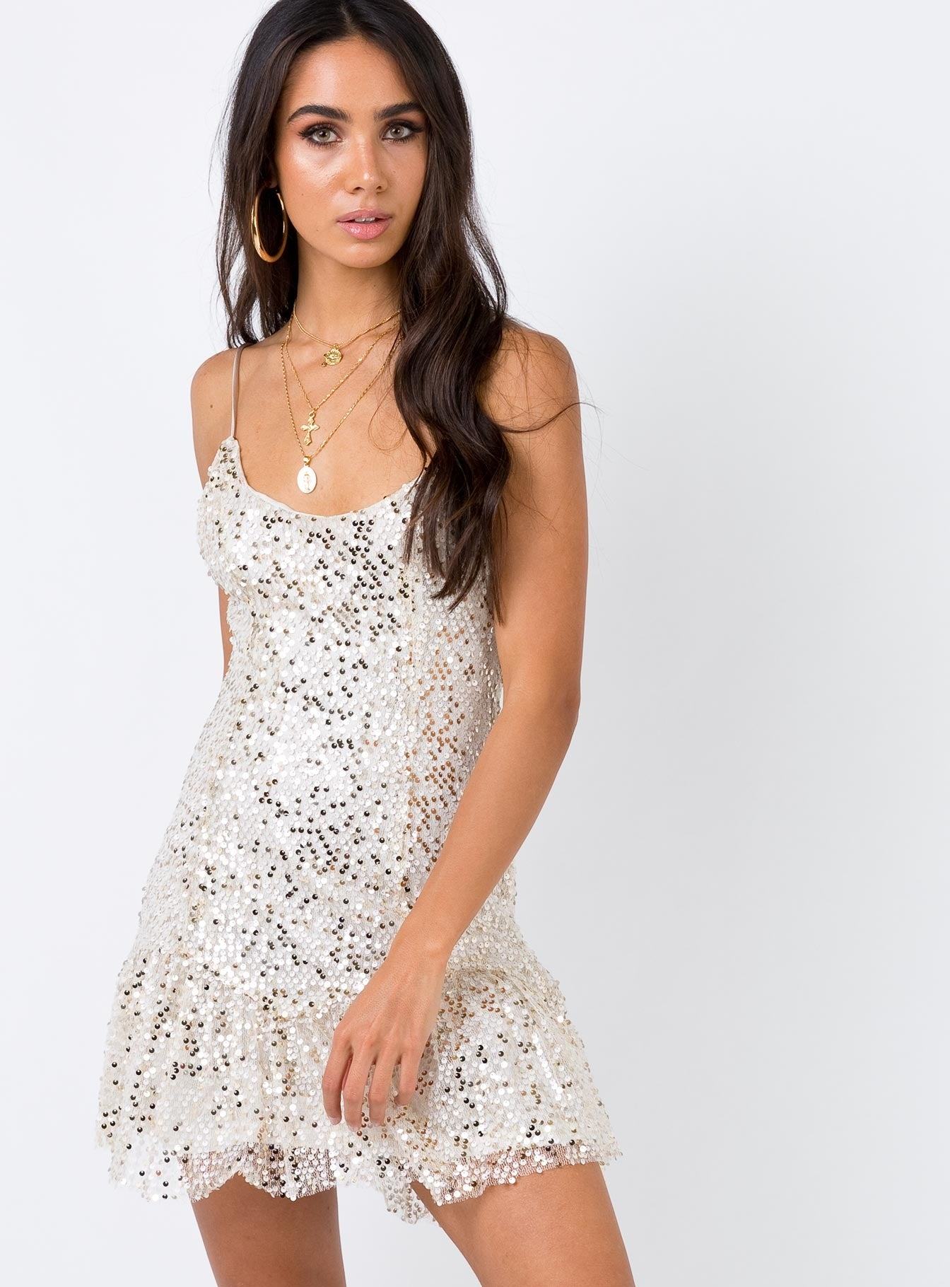 Star Hopper Mini Dress Cream