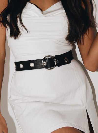 The Fion Belt Silver Black/Silver