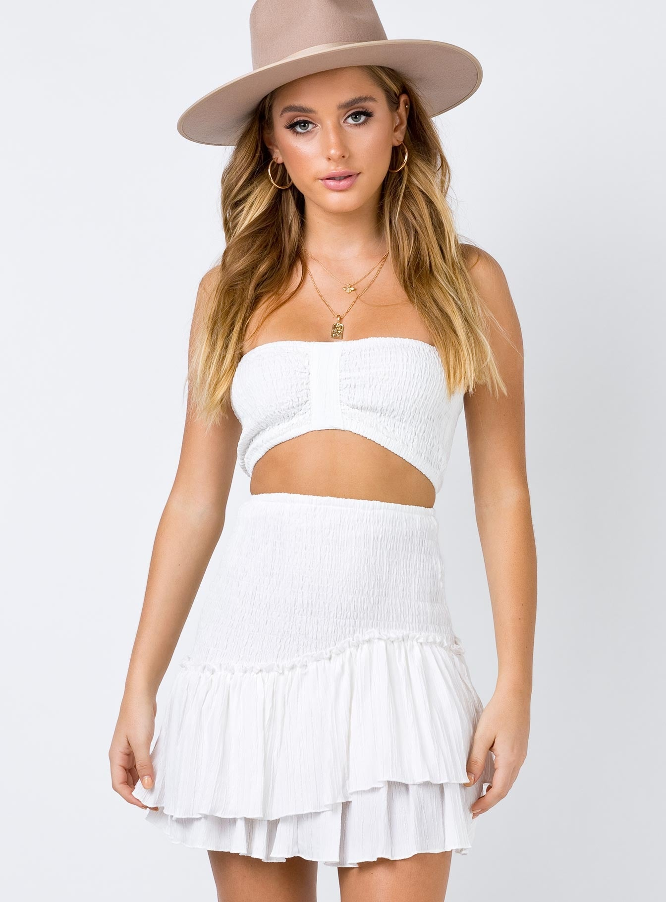 The Alaska Mini Skirt White