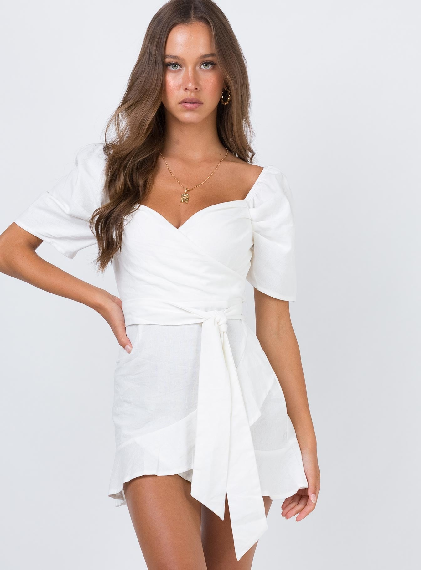The Kier Mini Dress White