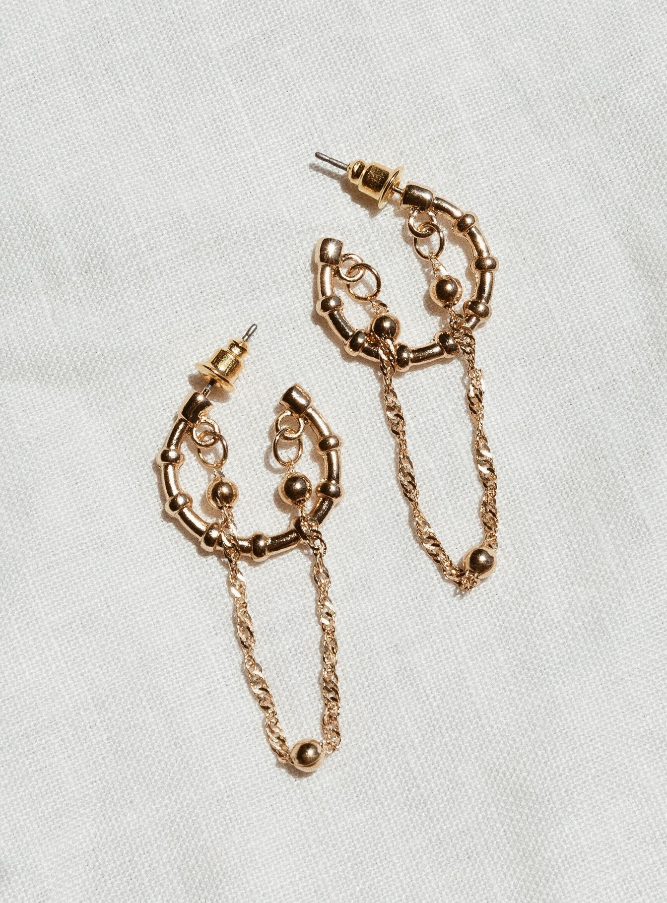 Minc Collections Sunlight Hoops Gold