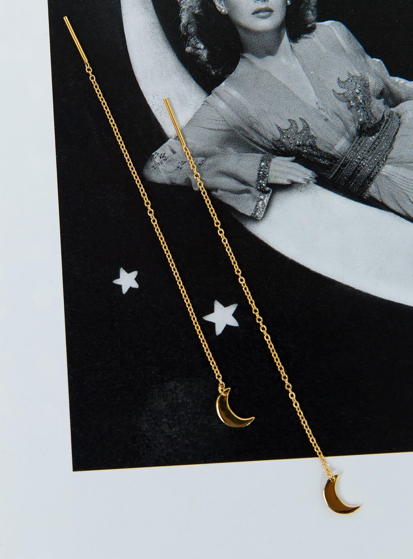Midsummer Star Gold Moon Threaders 18K Gold Vermeil