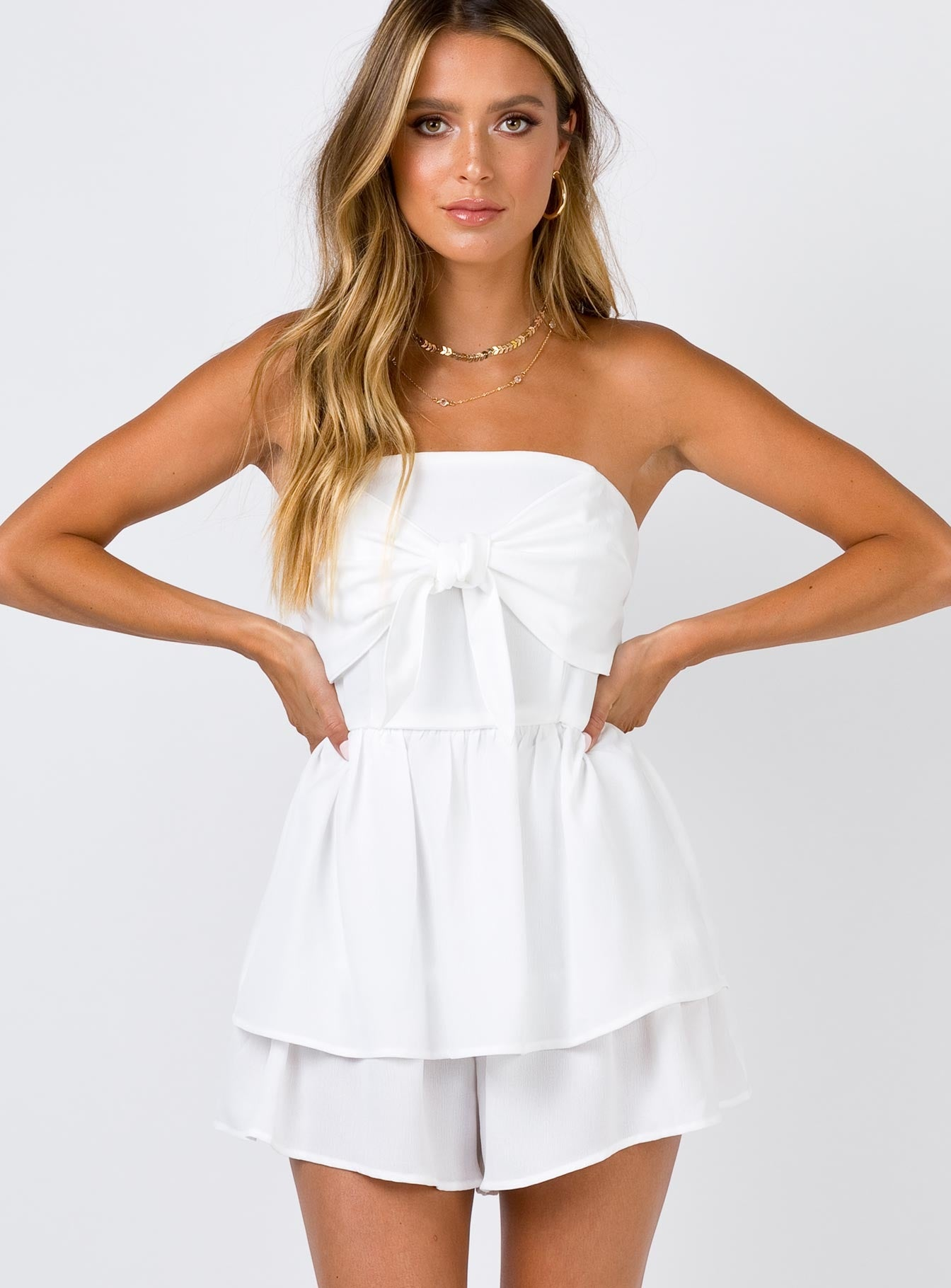 The Brando Playsuit White