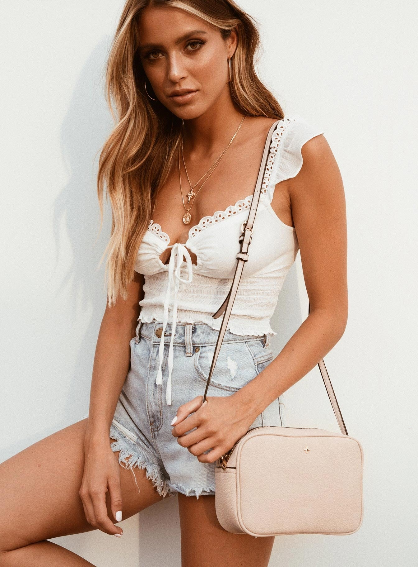 Peta & Jain Gracie Shoulder Bag Nude