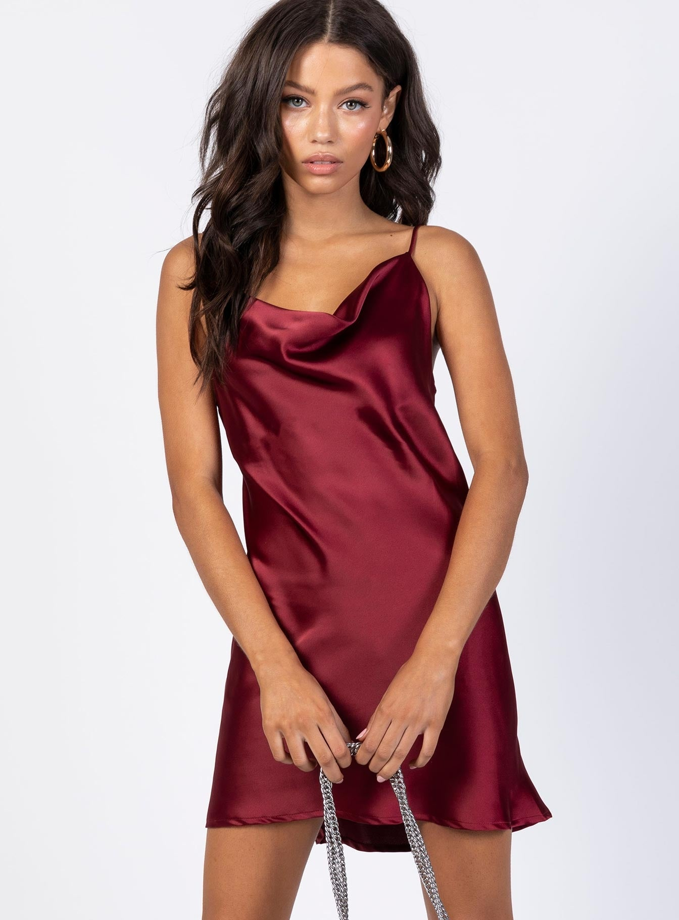 Betta Vanore Mini Dress Burgundy