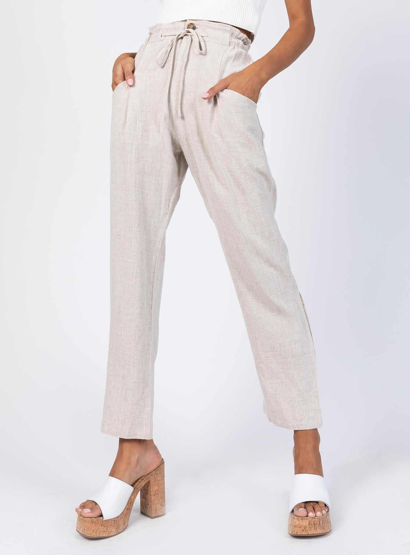 The Rex Pants Beige
