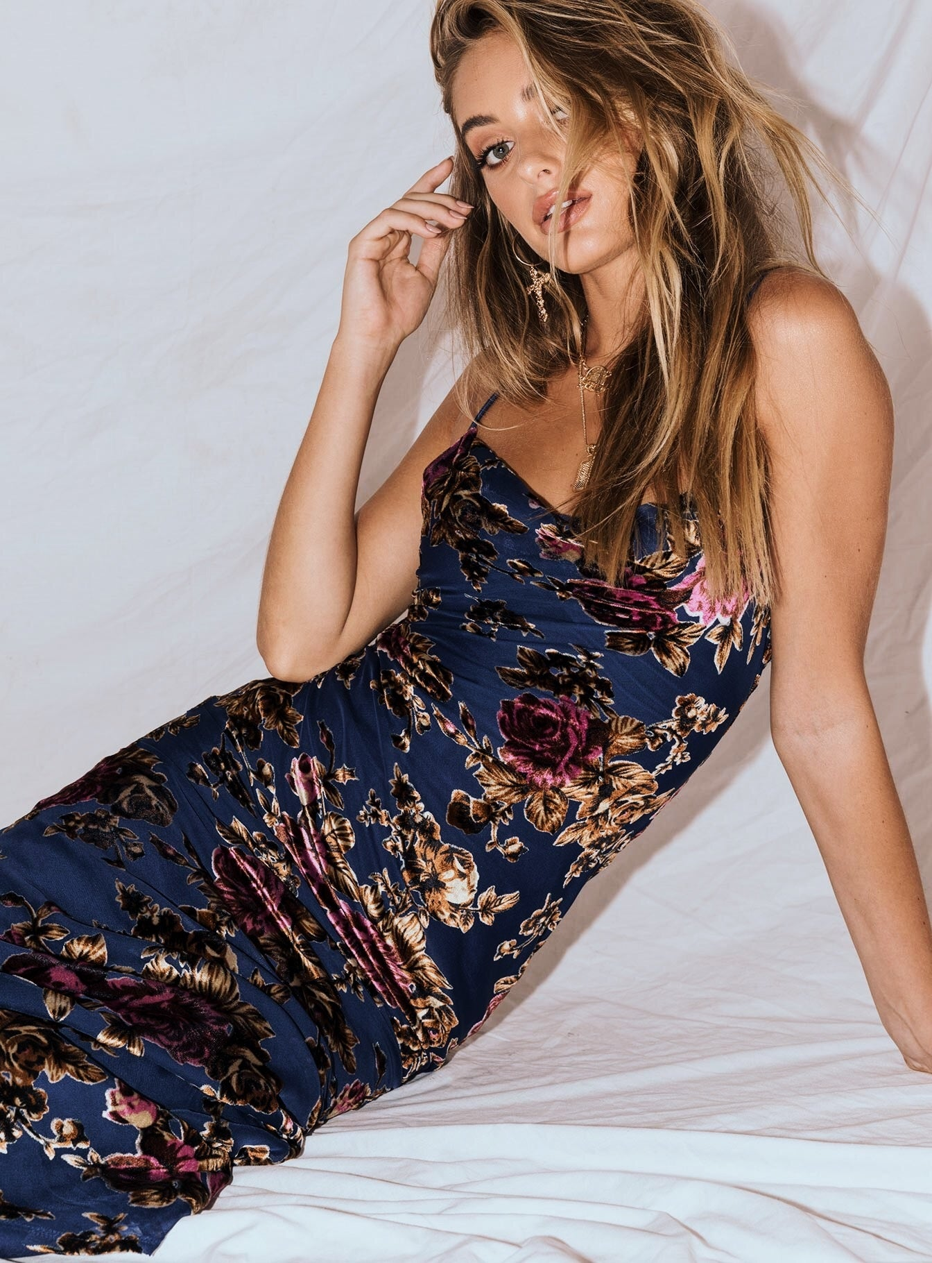 Midnight Moon Maxi Dress Navy
