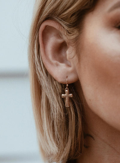 Crossfire Earrings Gold