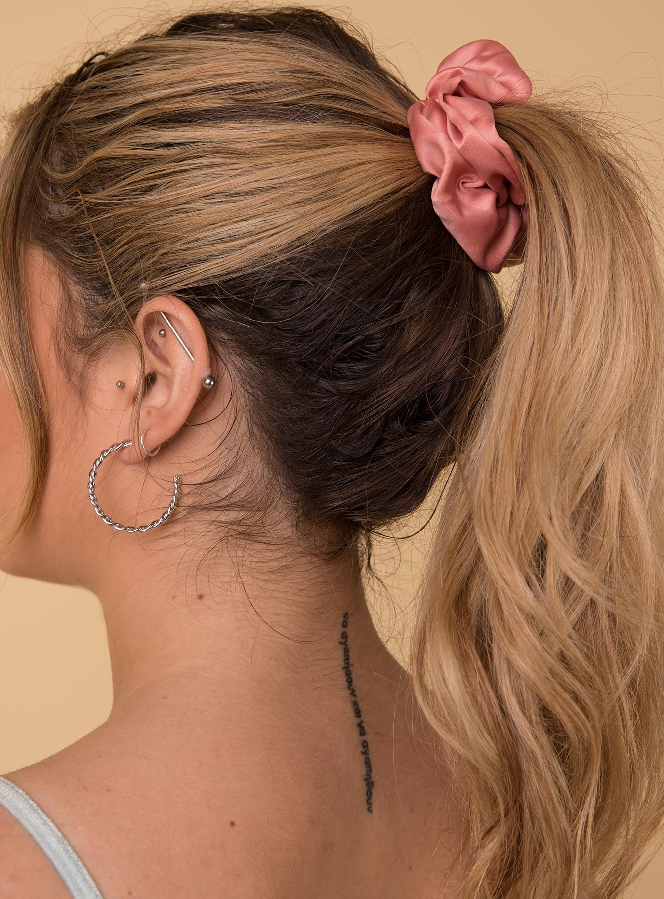 Satin Scrunchie Blush