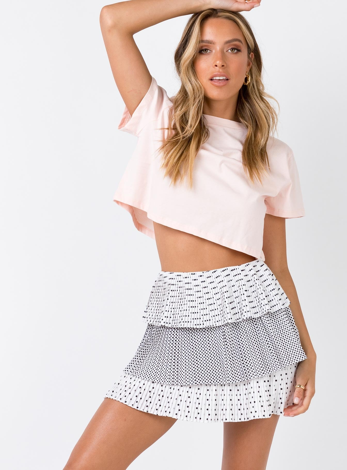Alora Mini Skirt White