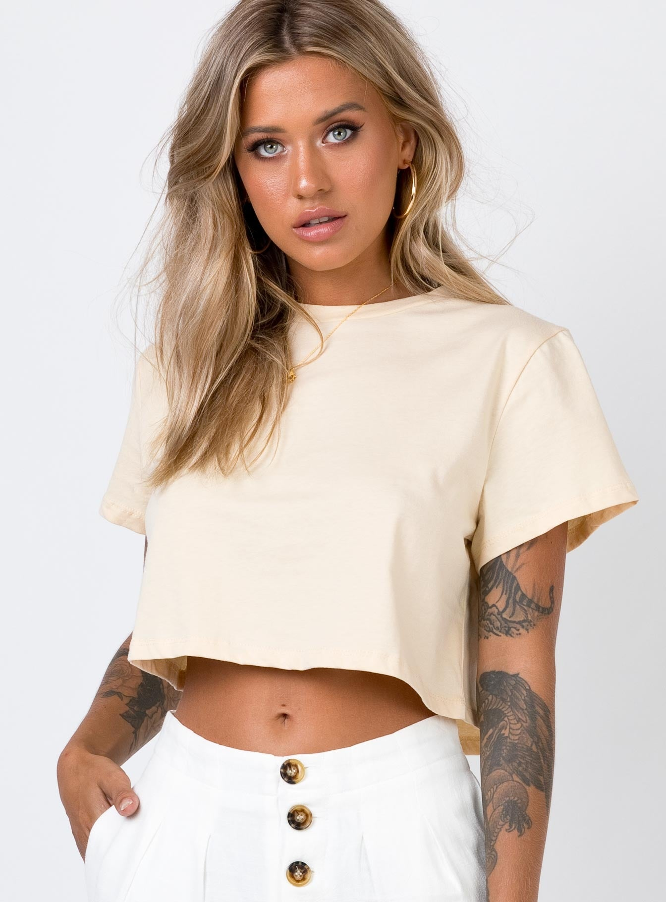 The Polly Tee Beige