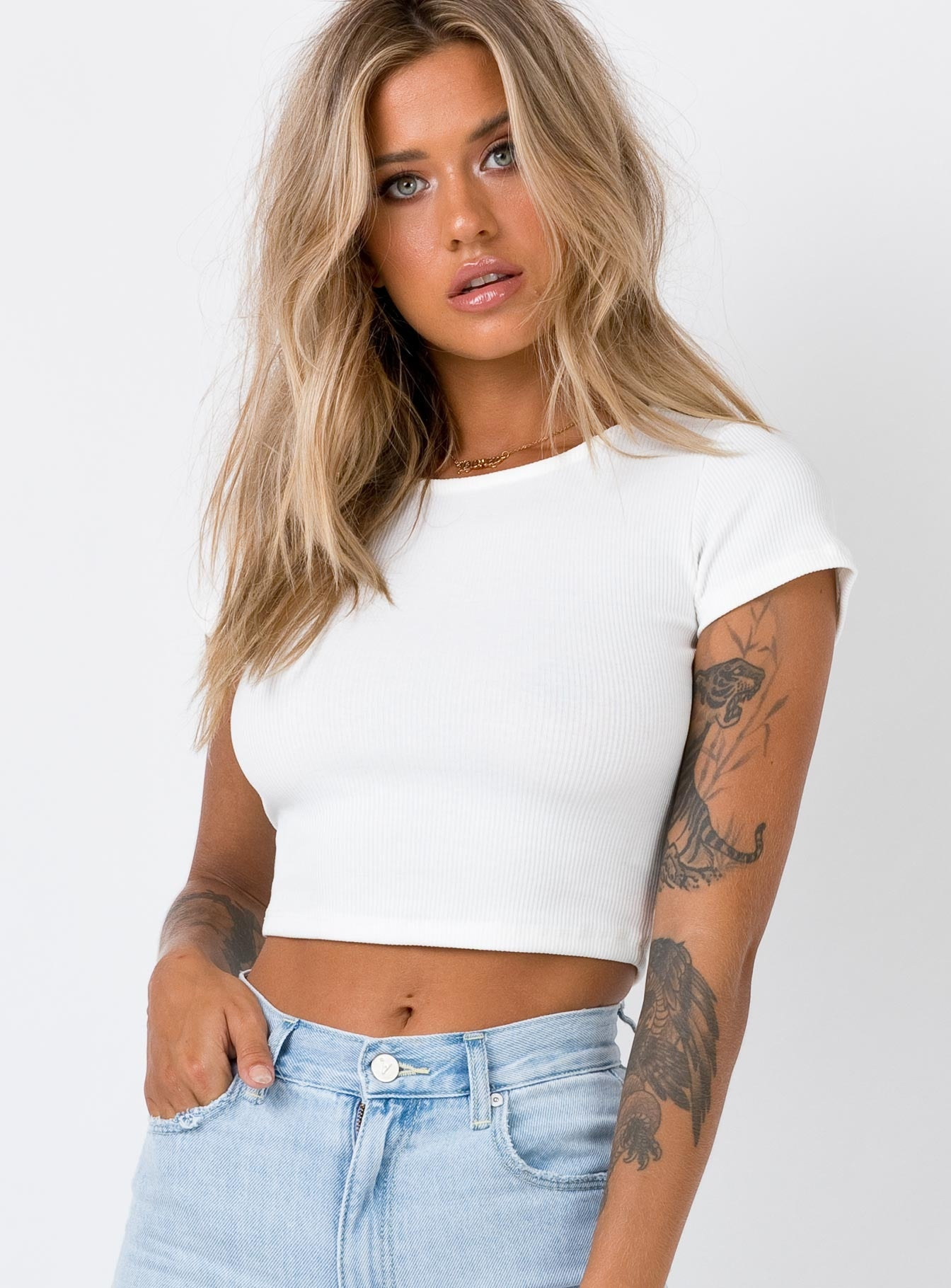 The Classic Cropped Tee White