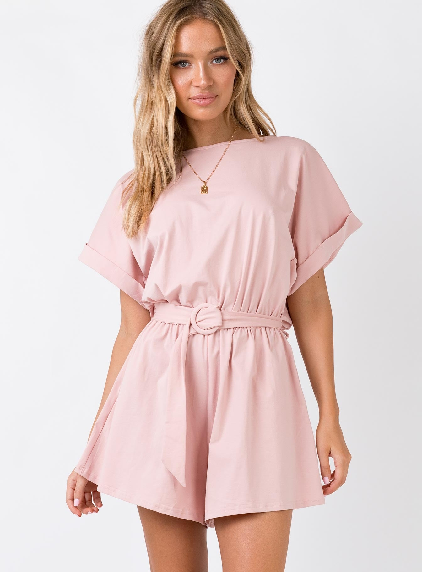 The Tusk Playsuit Pink