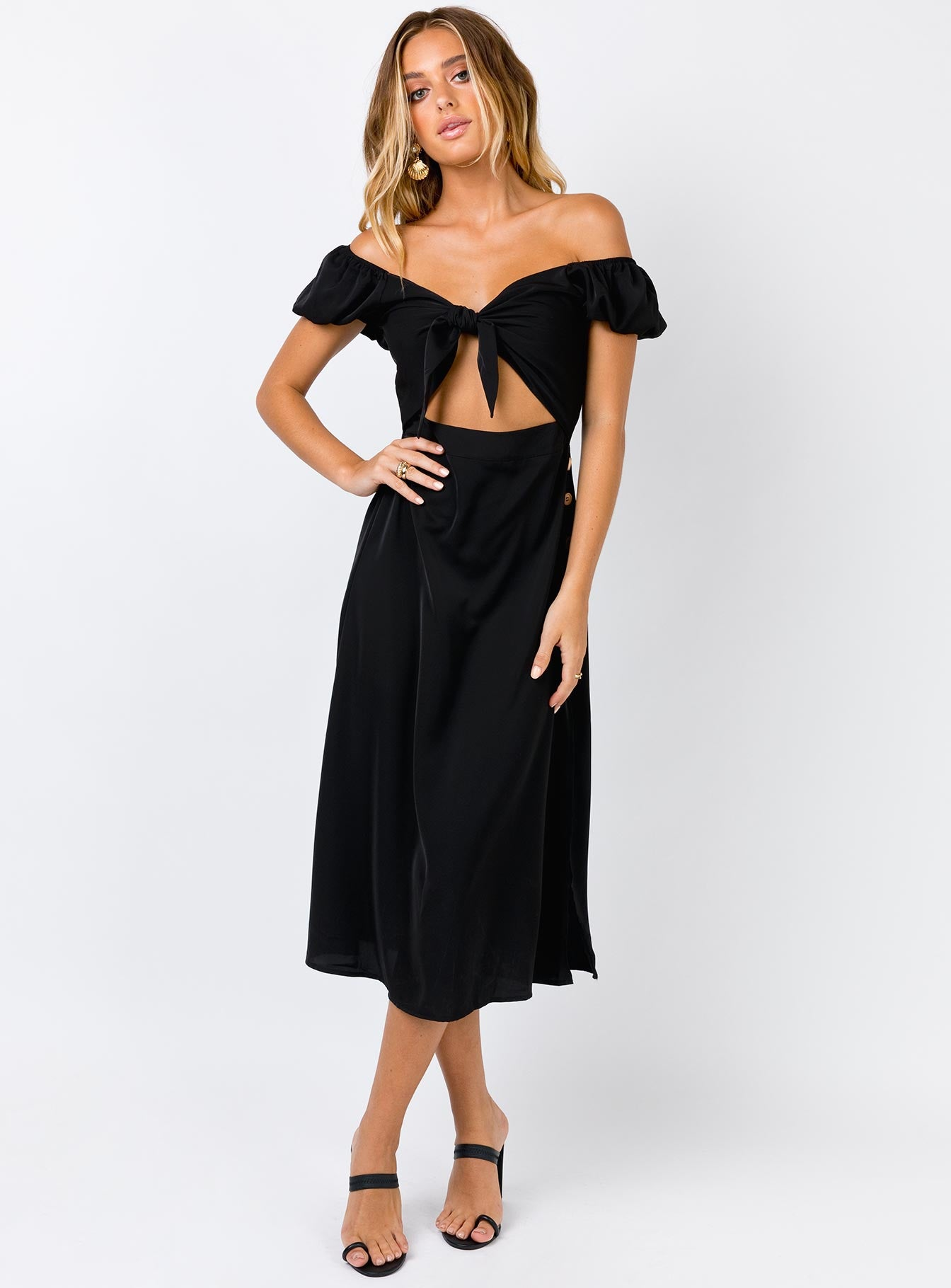 The Gibson Midi Dress Black