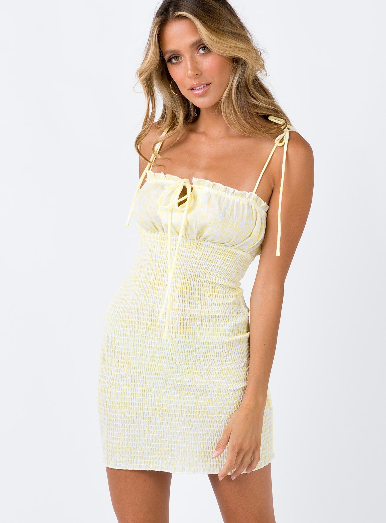 Korina Mini Dress Yellow