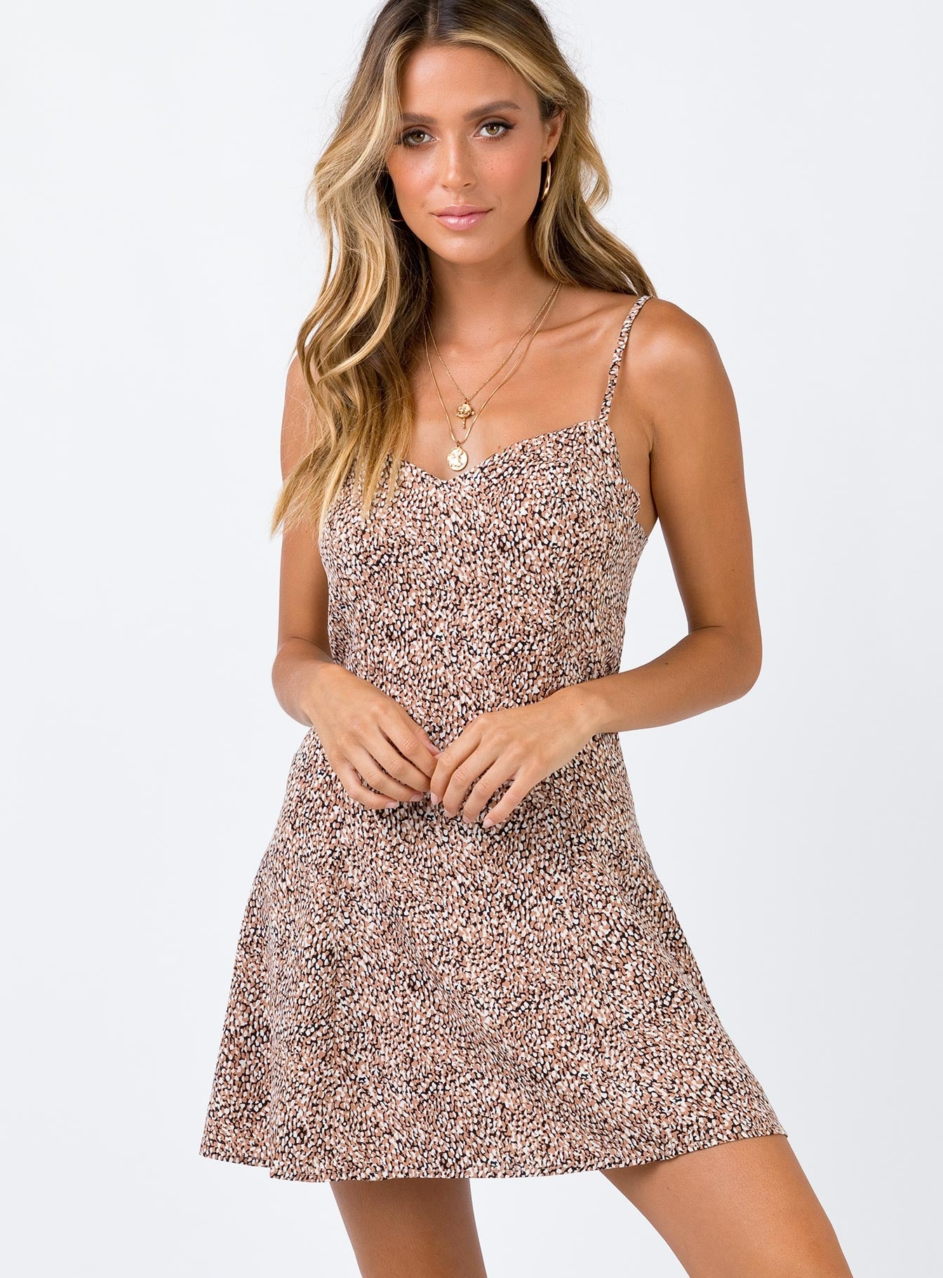 Warren Mini Dress Beige