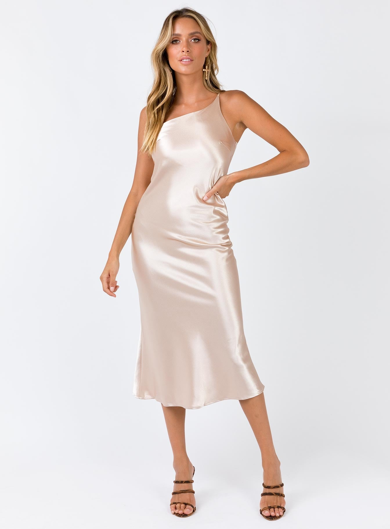 Whine Up Midi Dress Champagne
