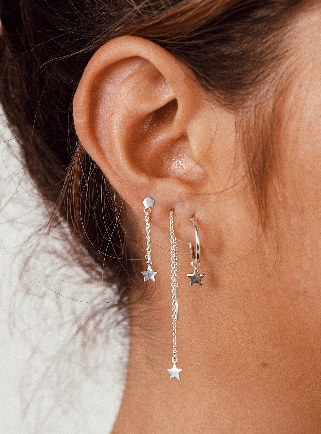 Midsummer Star Dainty Earring Pack Silver