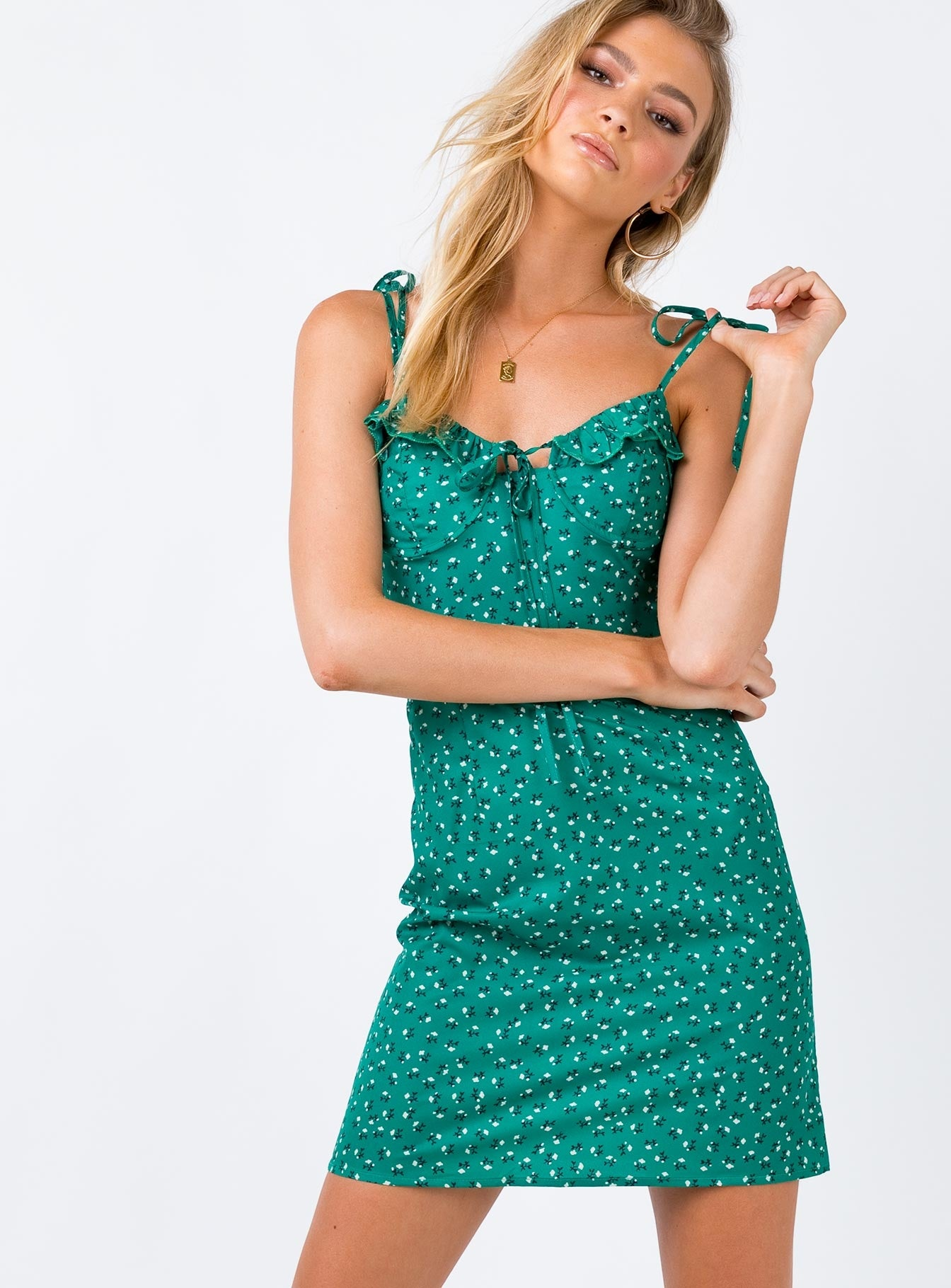 The Fox Mini Dress Green