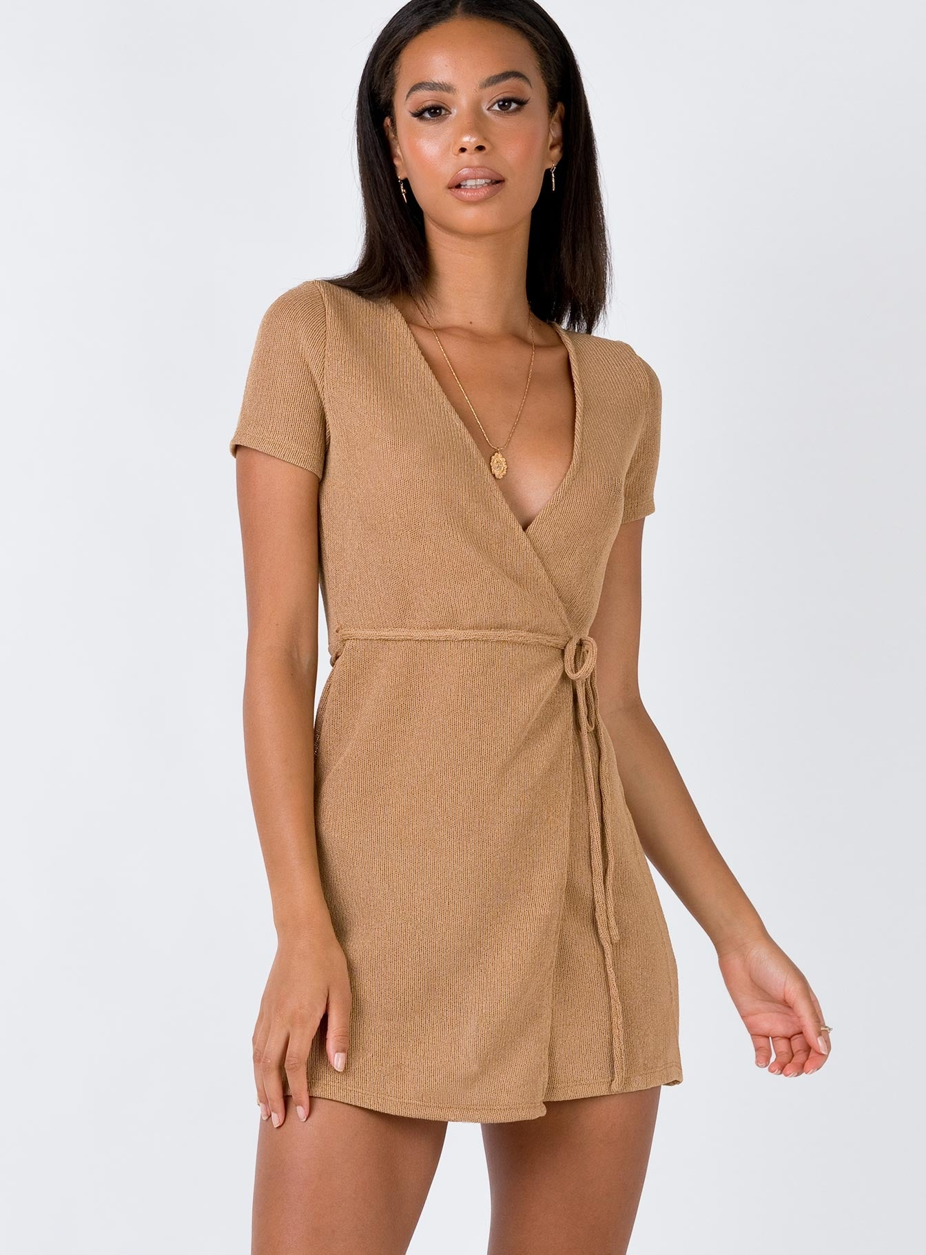 Sedona Mini Dress Tan