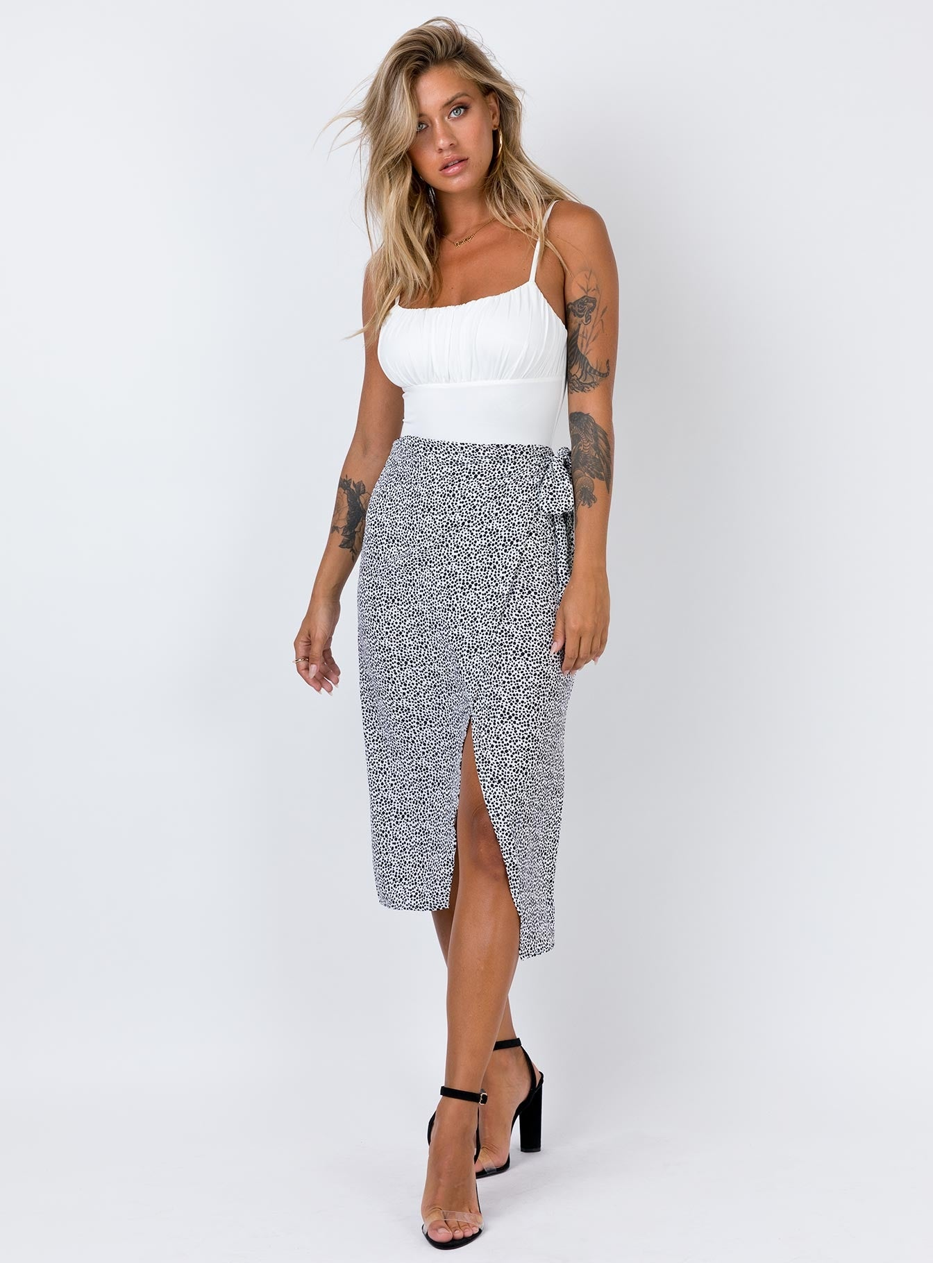 Romeo Midi Skirt White Multi