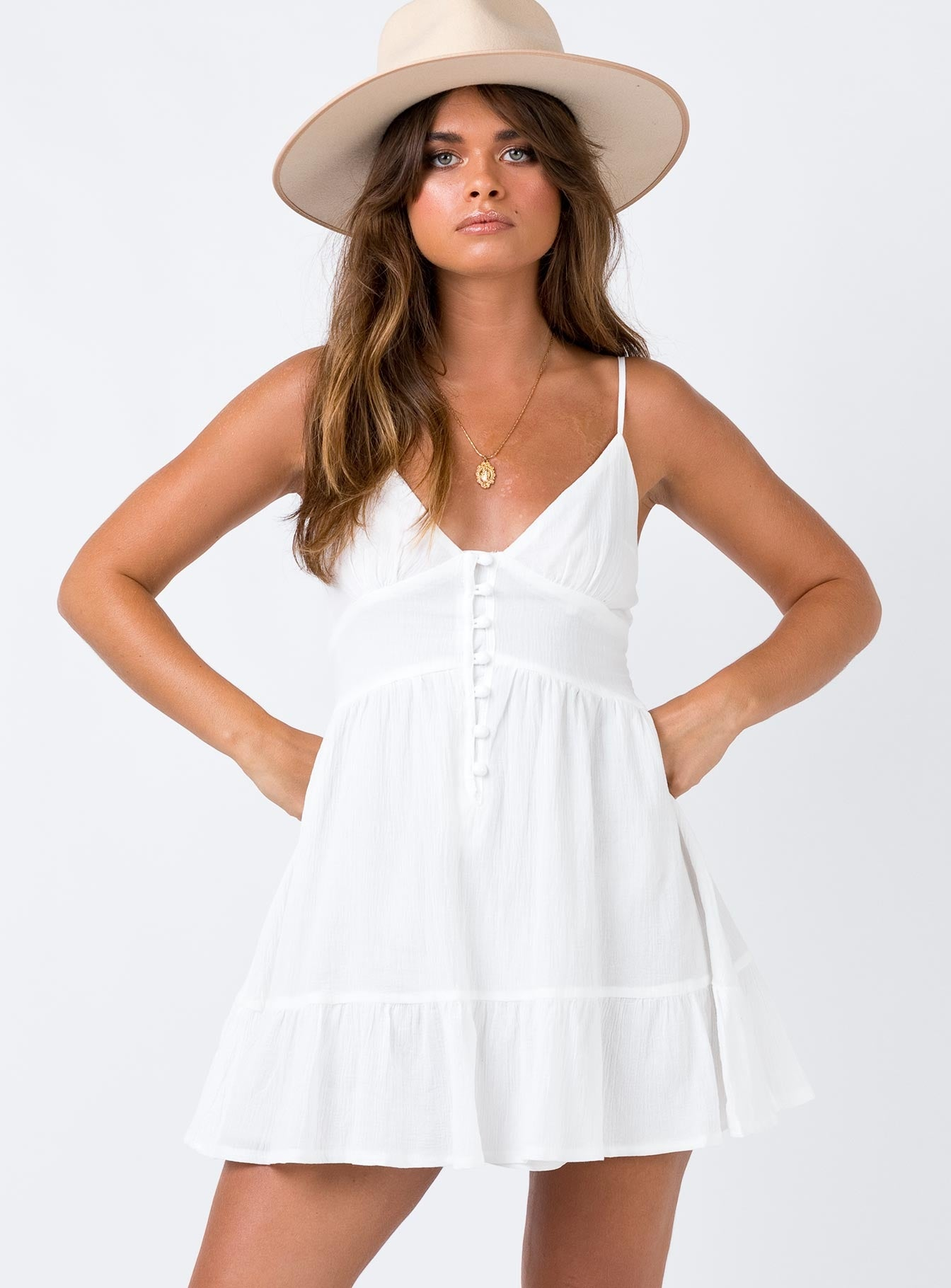 Gilligan Mini Dress White