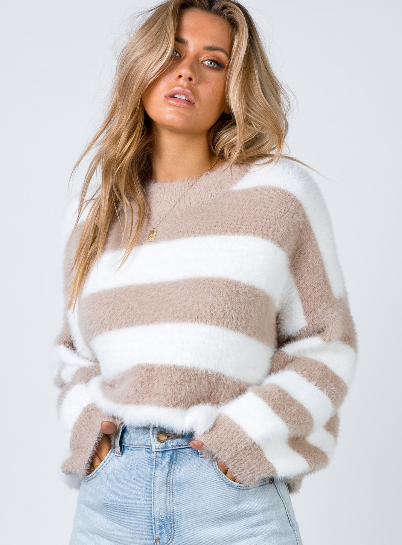 Damari Jumper White/Brown