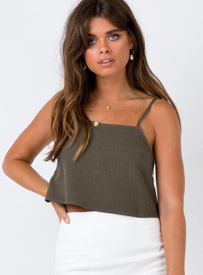 The Roxette Top Khaki