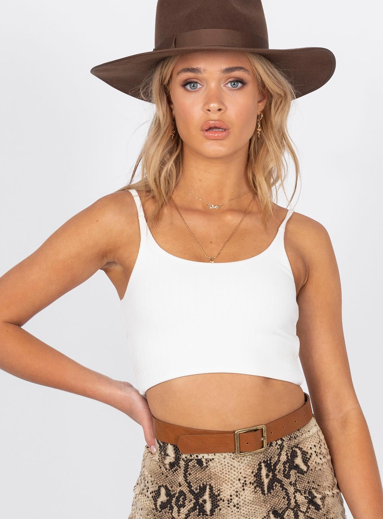 The East Crop Top White