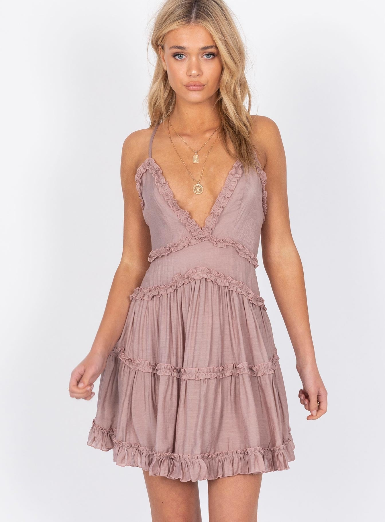 The Dawning Mini Dress Mocha